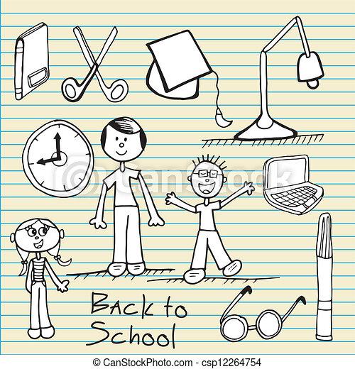 Back To school Icons - csp12264754