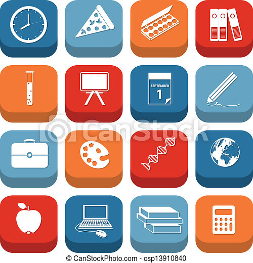back to school icons - csp13910840