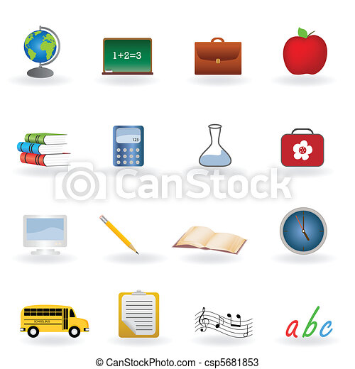Back to school icons - csp5681853