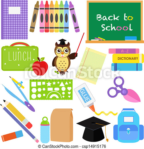 Back to School icons - csp14915176