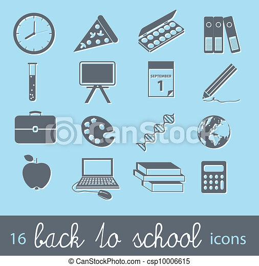 back to school icons - csp10006615