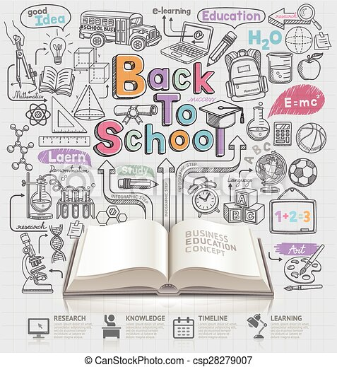 Back to school idea doodles icons. - csp28279007