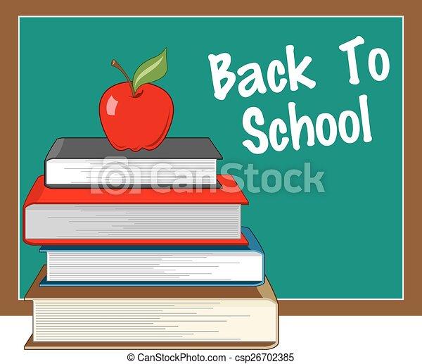 Back to school Illustration - csp26702385