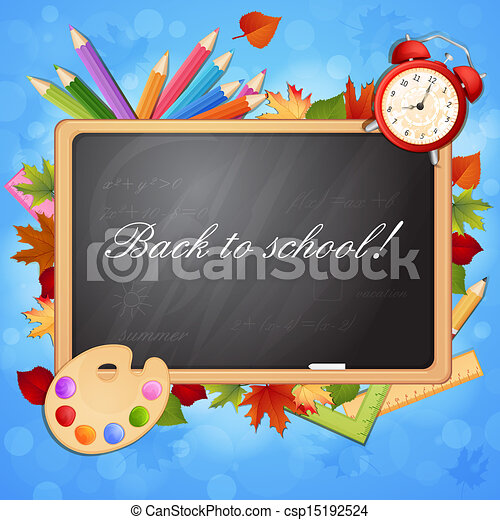 Back to school illustration  - csp15192524