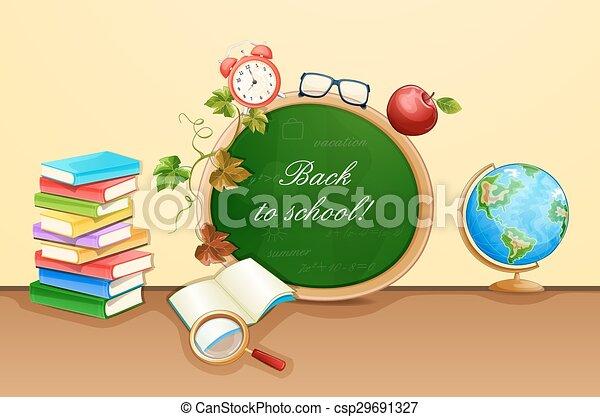 Back to school illustration. - csp29691327