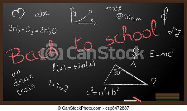 Back to school illustration - csp8472887