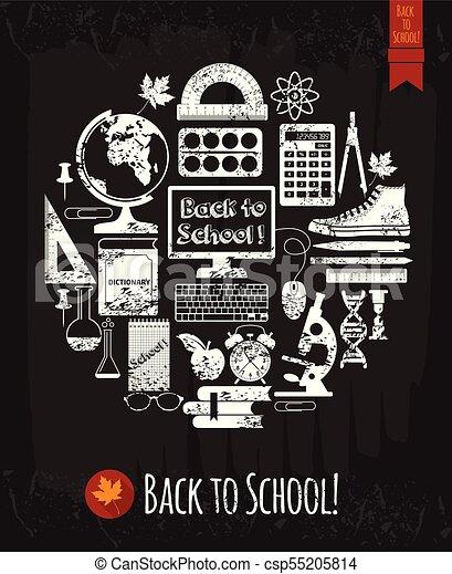 Back to school illustration - csp55205814