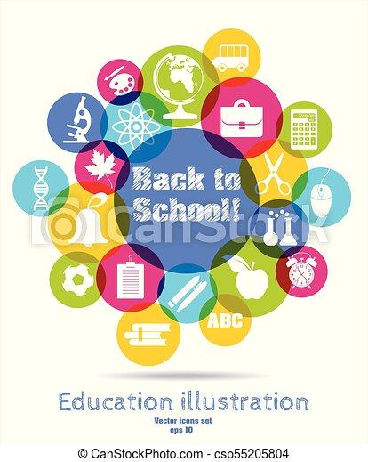 Back to school illustration - csp55205804