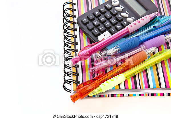 Back to school. Notepad with school supplies. - csp4721749