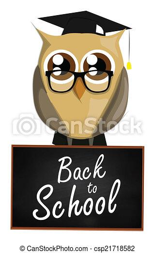 Back to school owl - csp21718582