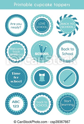 graphic about Printable Circle Labels named Back again in the direction of university printable labels