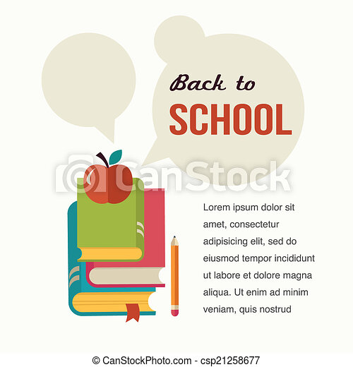 Back to school, read the books, concept backgound - csp21258677
