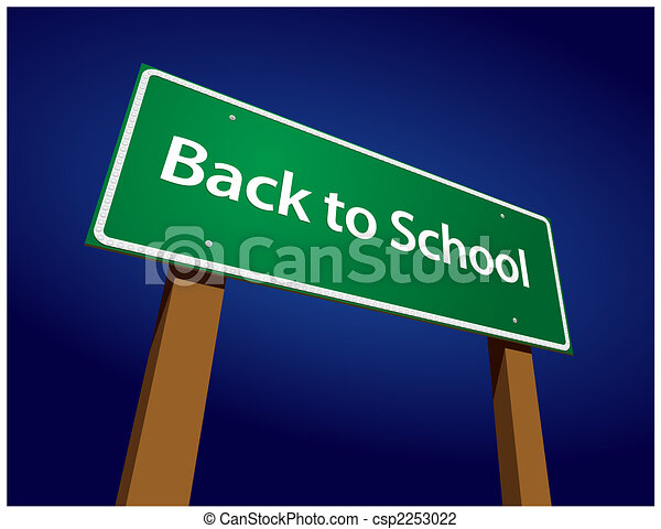 Back To School Road Sign Illustration - csp2253022