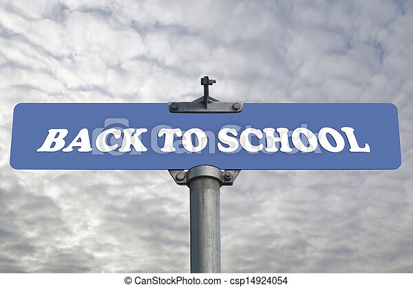 Back to school road sign  - csp14924054