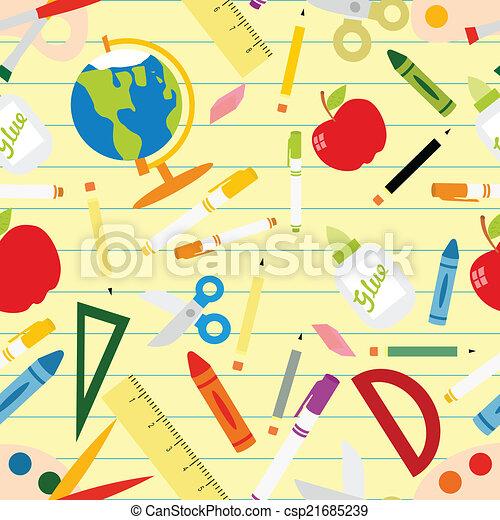 Back to school seamless pattern - csp21685239