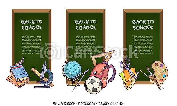 Back to school set of banners. - csp39217432