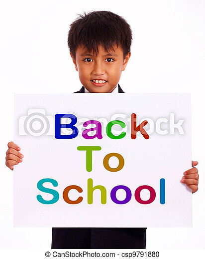 Back To School Sign As Symbol For Education And Learning Stock