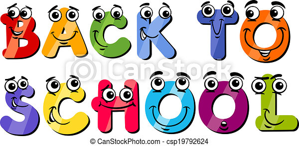 back to school sign cartoon - csp19792624