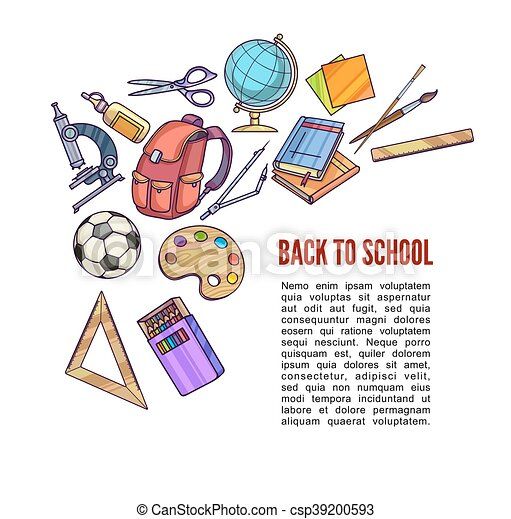 Back to School supplies and learning equipment - csp39200593