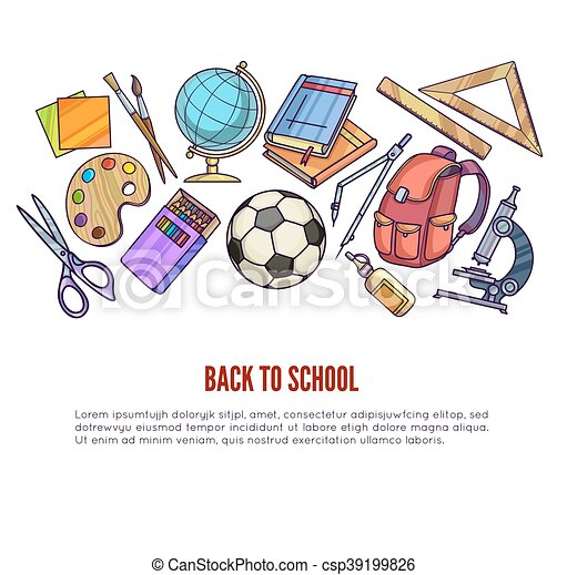 Back to School supplies and learning equipment - csp39199826
