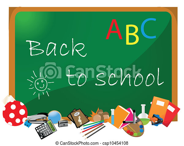 Back to school supplies. Isolated. - csp10454108