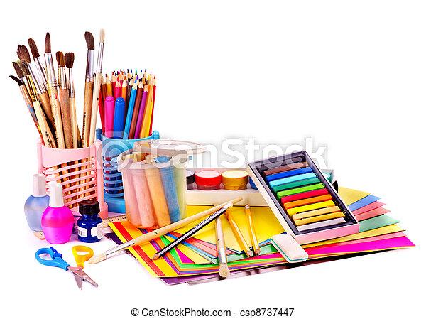 Back to school supplies. - csp8737447