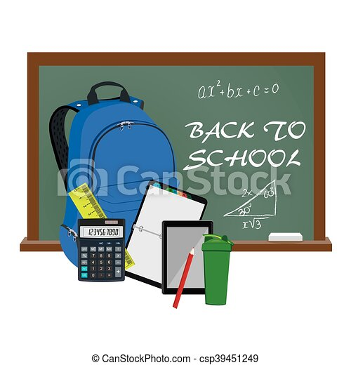 Back to school supplies, vector - csp39451249