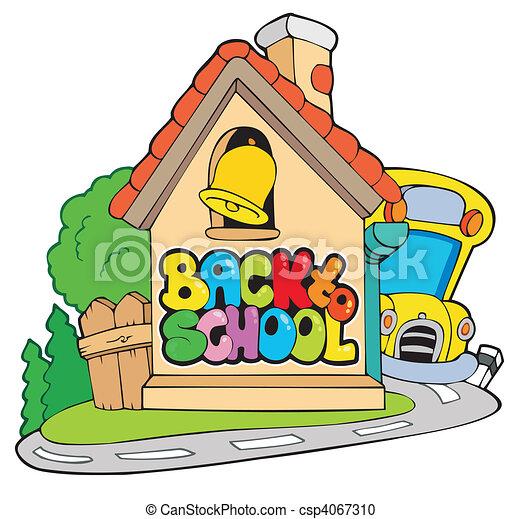 Back to school theme 2 - csp4067310