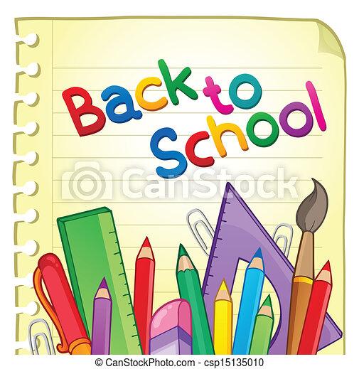 Back to school theme 6 - csp15135010