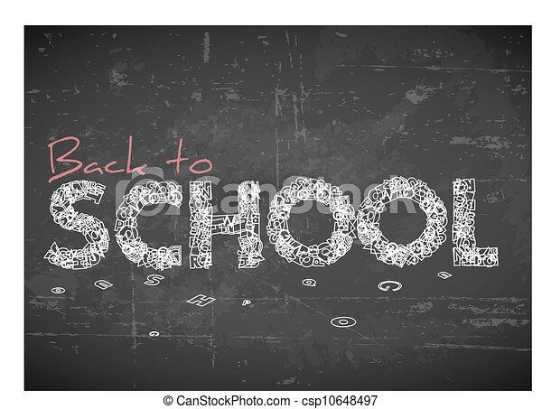 Back to school vector illustration  - csp10648497