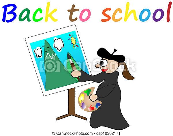back to school vector - csp10302171