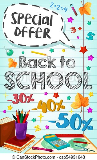 back to school vector poster special promo sale back to eps rh canstockphoto com vector post pounder vector poster templates