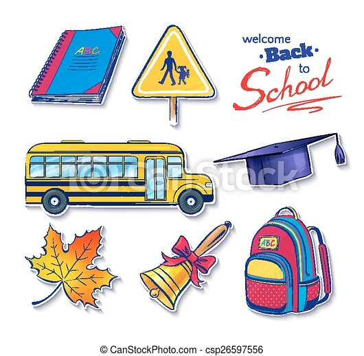 Back to school vector set.  - csp26597556
