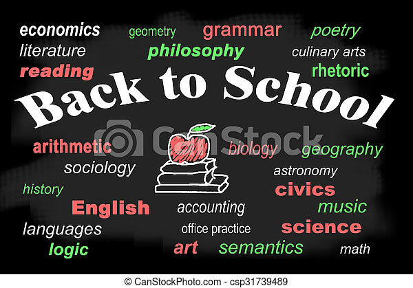 Back to school word cloud - csp31739489