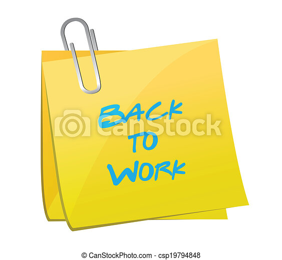 back to work post message loading concept - csp19794848