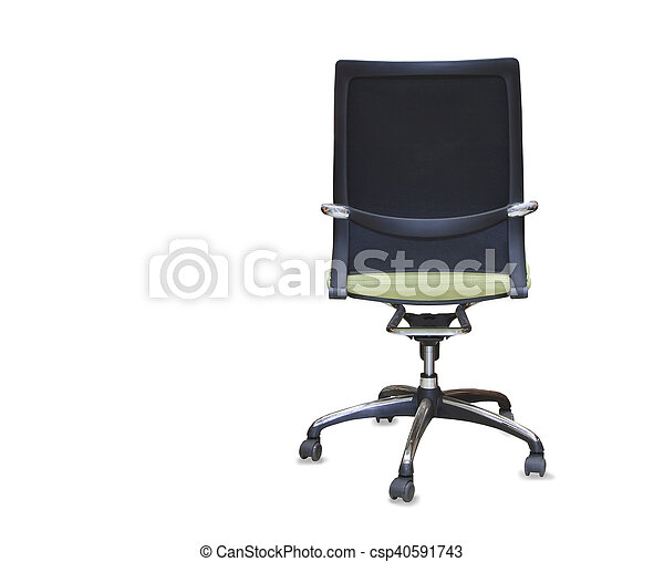 office chair back view. Back View Of Modern Office Chair From Green Cloth. Isolated - Csp40591743 E