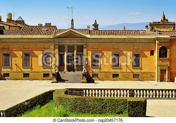 back view of Palazzo Pitti in Florence, Italy - csp20457176