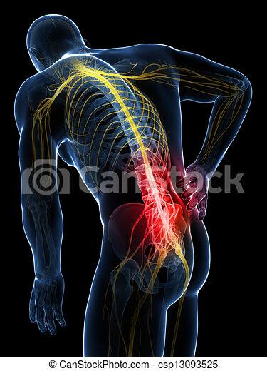Backache male - csp13093525