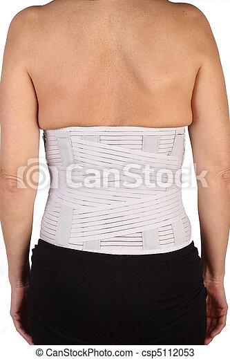 backache medicinal corset on white  - csp5112053