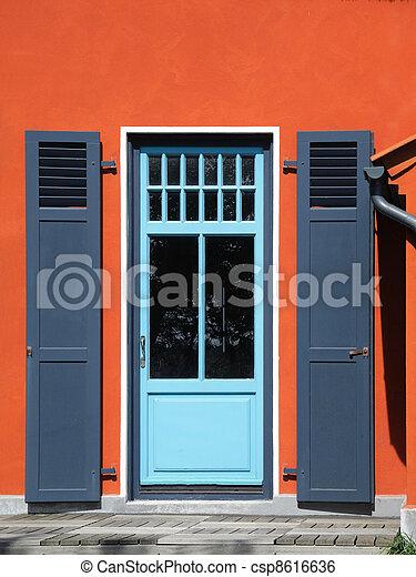 Backdoor And Orange House Facade