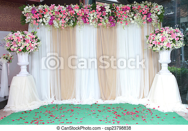 Backdrop Flowers Arrangement For Wedding Ceremony Colorful Backdrop