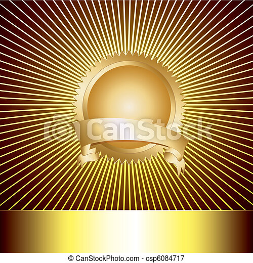 backg, medaglia, lusso, premio - csp6084717