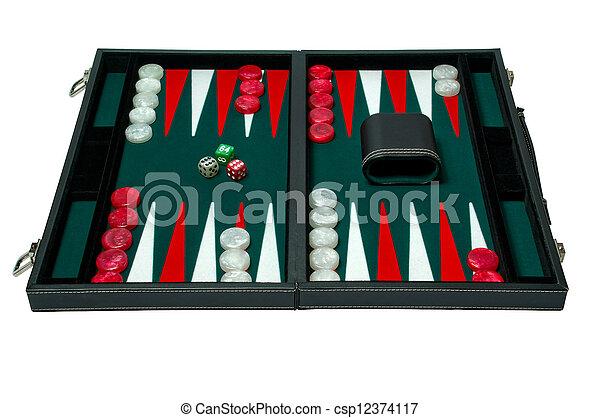 Backgammon board game - clip - csp12374117