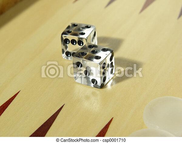 Backgammon Dice - csp0001710