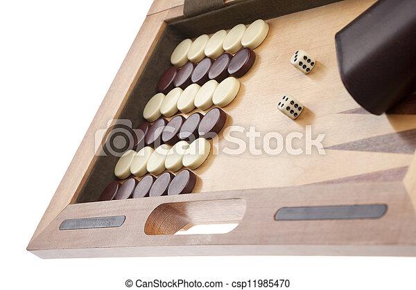 backgammon game - csp11985470