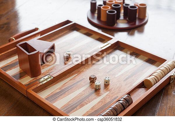 Backgammon game set - csp36051832