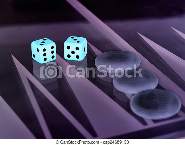 backgammon with dice - csp24689130