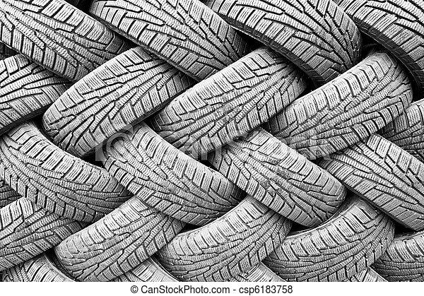 backgorund, banden, rubber, black , velen - csp6183758