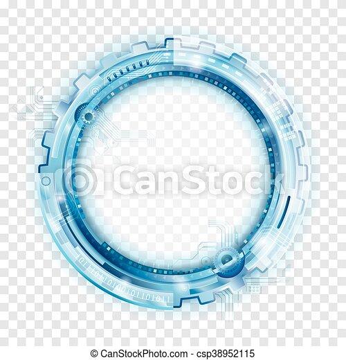 backgr, astratto, tecnologia, circolare - csp38952115