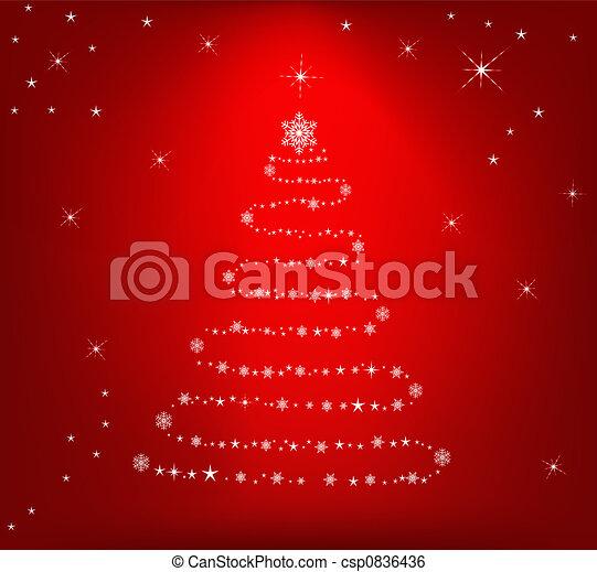 Abstr Christmas backgroun - csp0836436